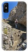 hiker in Dolomites IPhone Case