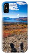 Hiker In Fall-colored Tundra IPhone Case