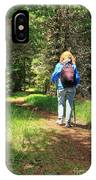 Hiker In The Forest IPhone Case