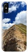 Hiker On Mountain Ridge IPhone Case