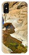 Hiker On Window Trail In Chisos Basin In Big Bend National Park-texas   IPhone Case