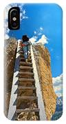 Hiker On Wooden Staircase IPhone Case