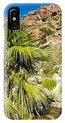Hikers At Oasis On Borrego Palm Canyon Trail In Anza-borrego Desert Sp-ca  IPhone Case