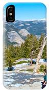 Hiking On Barren Rock On Sentinel Dome In Yosemite Np-ca IPhone Case