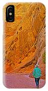 Hiking On Capitol Gorge Pioneer Trail In Capitol Reef National Park-utah IPhone Case
