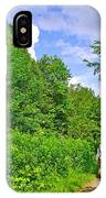 Hiking Trail Along Rivier Du Nord In The Laurentians North Of Montreal-qc IPhone Case