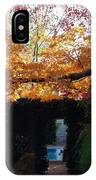 Hillwood Mansion Fall Garden IPhone Case