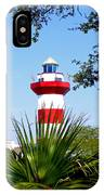 Hilton Head Lighthouse And Palmetto IPhone Case