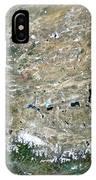 Himalaya Mountains Asia True Colour Satellite Image  IPhone Case