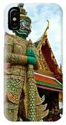 Hindu Figure At Grand Palace Of Thailand In Bangkok IPhone Case