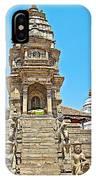 Hindu Temples In Bhaktapur Durbar Square In Bhaktapur-nepal IPhone Case