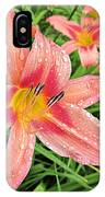 Hiroko Pink Daylily IPhone Case