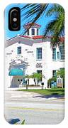 Historic And Beautiful Crest Theatre In Delray Beach. Florida. IPhone Case