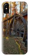 Historic Grist Mill With Fall Foliage IPhone Case