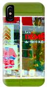 Historic Habs Hockey Jersey St Henri Storefront Les Demons De Notre Dame Montreal Art Carole Spandau IPhone Case