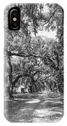 Historic Lane Bw IPhone Case