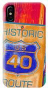 Historic Route 40 Pop Art IPhone Case