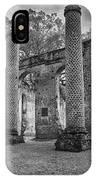 Historic Sheldon Church 5 Bw IPhone Case