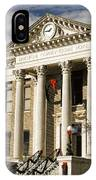 Historical Athens Alabama Courthouse Christmas IPhone Case