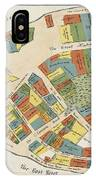 Historical Map Of Manhattan IPhone Case
