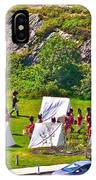 Historical Reenactment Near Visitor's Center In Signal Hill National Historic Site In St. John's-nl IPhone Case