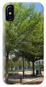 Lincoln Square Springfield Il - Luther Fine Art IPhone Case