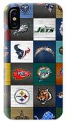 Hit The Gridiron Football League Retro Team Logos Recycled Vintage License Plate Art IPhone Case