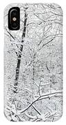Hoar Frost Covered Trees In Forest IPhone Case