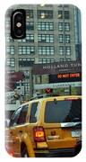 Holland Tunnel Traffic IPhone Case