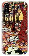 Holsteins At Christmas Time IPhone Case