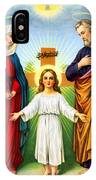 Holy Family With Cross IPhone Case