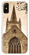 Holy Trinity Stratford On Avon Sepia IPhone Case