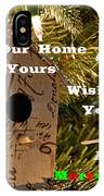 Home In The Tree W Text IPhone Case
