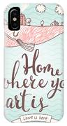 Home Is Where Your Heart Is - Stylish IPhone Case