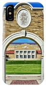 Homecoming Bonfire Arch IPhone Case