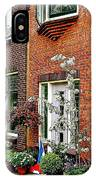 Homes Along The Canal In Enkhuizen-netherlands IPhone Case