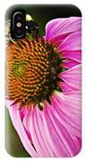 Honeybee On Echinacea Flower IPhone Case