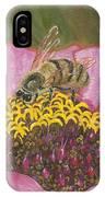 Honeybee On Pink Zinnia IPhone Case