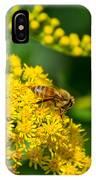 Honeybee On Yellow IPhone Case