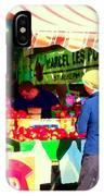 Honeycrisp Apples Fruit Stand Marcel Les Pommes St Joseph Du Lac  Food Art Scenes Carole Spandau IPhone Case