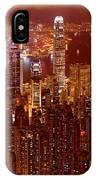 Hong Kong In Golden Brown IPhone Case