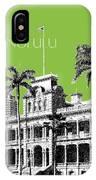 Honolulu Skyline Iolani Palace - Olive IPhone Case