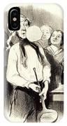 Honoré Daumier French, 1808-1879, Les Crêpes IPhone Case