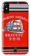 Honoring Americas Bravest Sept 11 IPhone Case
