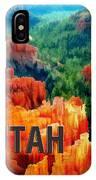 Hoodoos In Bryce Canyon Utah IPhone Case