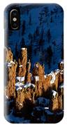 Hoodoos In Shadows Bryce Canyon National Park Utah IPhone Case