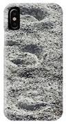 Hoof Prints In Sand IPhone Case
