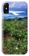 Hookipa Beach Flowers Maui Hawaii IPhone Case