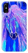 Horse Abstract Blue And Purple IPhone Case