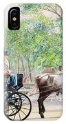 Horse And Carriage IPhone Case
